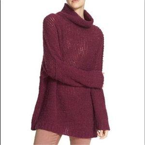 Free People She's all That alpaca tunic sweater